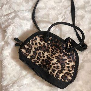 Guess cheetah print crossbody purse